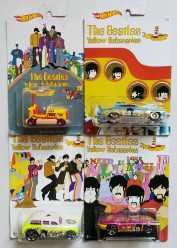 Mattel ® Hot Wheels ® the beatles 4 cars colección en 1:64