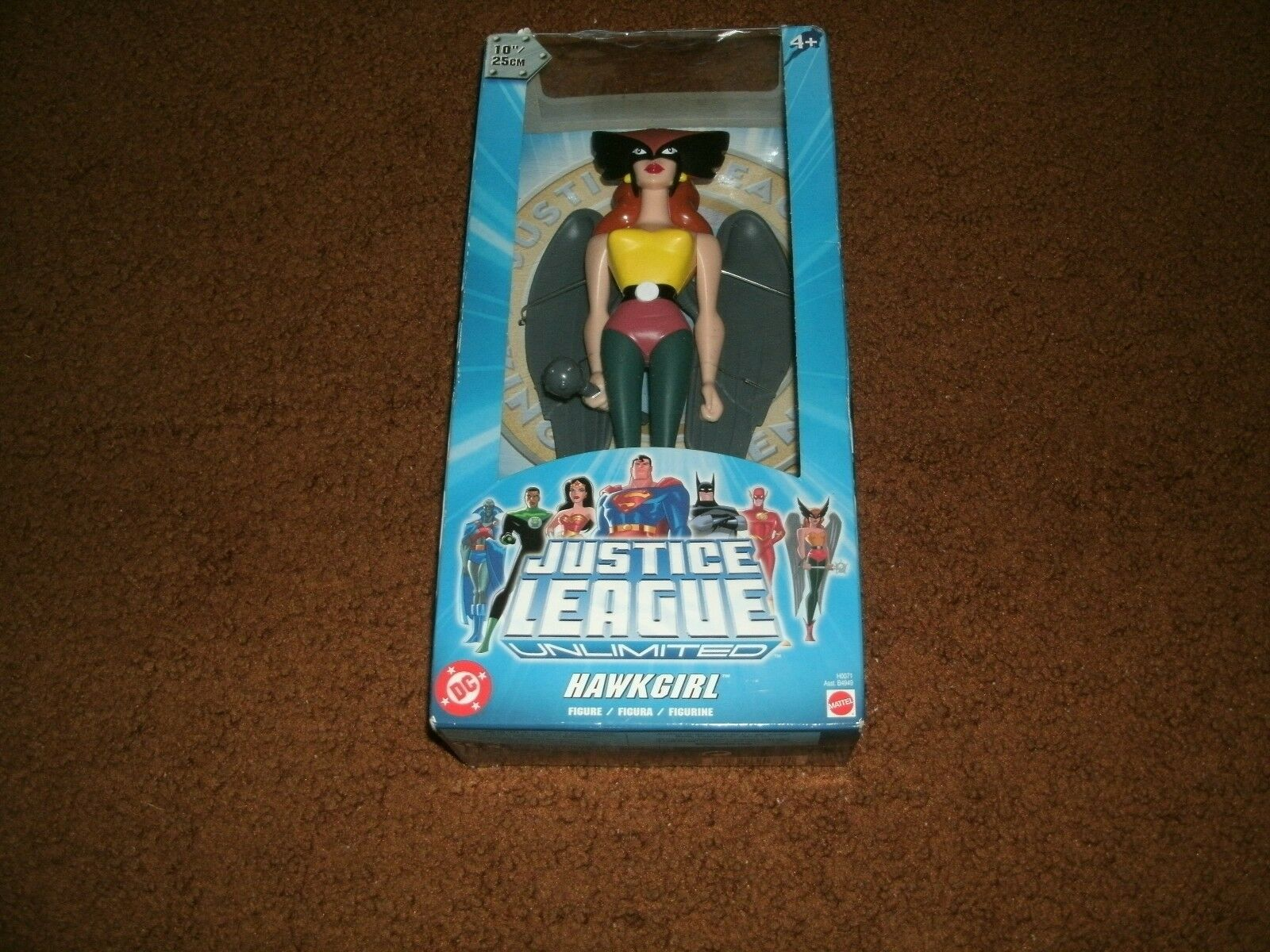 Very Rare Justice League Unlimited Hawkgirl 10 Inch Figure 2004 Brand New Sealed