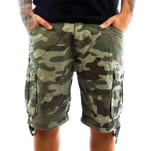 Mens-Camo-Cargo-Shorts-Crosshatch-Jimster-Top-New-Summer-2019