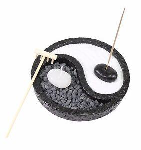 Tabletop Taiji Yin Yang Zen Garden Sand Rock Candle ...