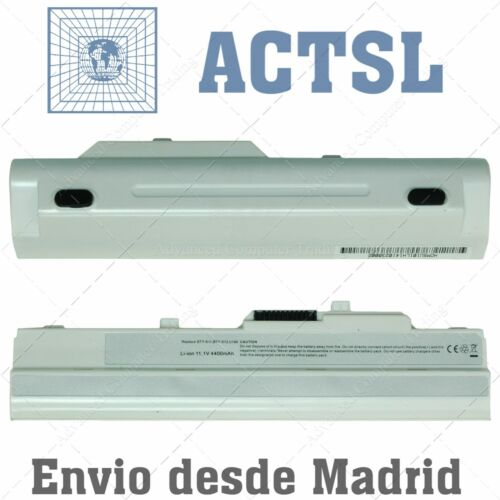 Batería para portátil MSI Wind U90 U100 Wind12 U200 U210 U230 BTY-S12 Blanca