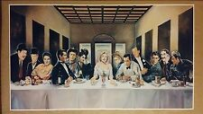 "Hollywood Last Supper GIANT WIDESCREEN 42"" x 24"" Movie Poster Marilyn Elvis"