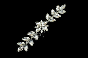 Bridal Sew On Dress Applique Crystal Rhinestone Wedding Supply Trim A242