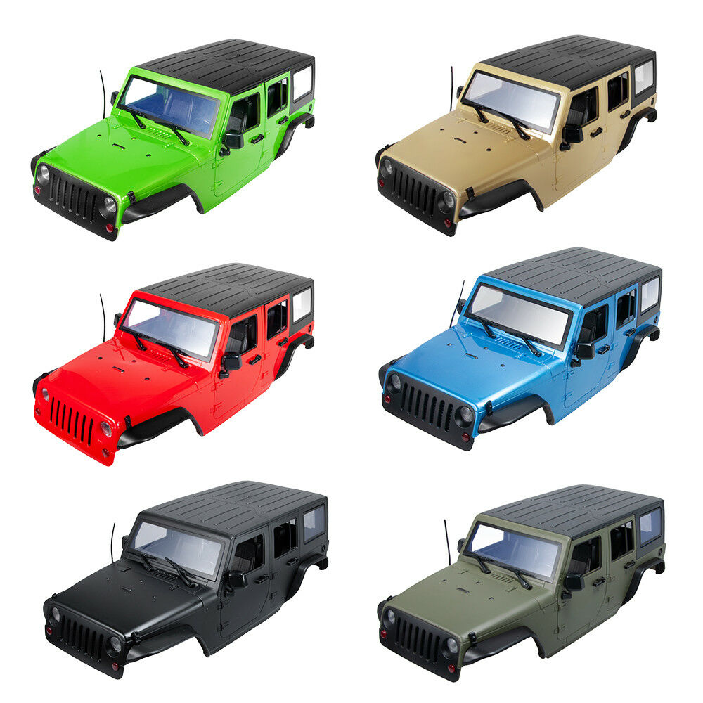 313MM Car Body Shell for 1/10 RC Car Jeep Wrangler SCX10II 90046 90047 6 Colors