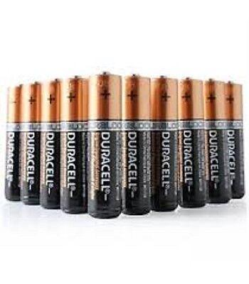 12 X Duracell AAA Alkaline LR03 1.5V Batteries MN2400 Duralock Duracel Battery