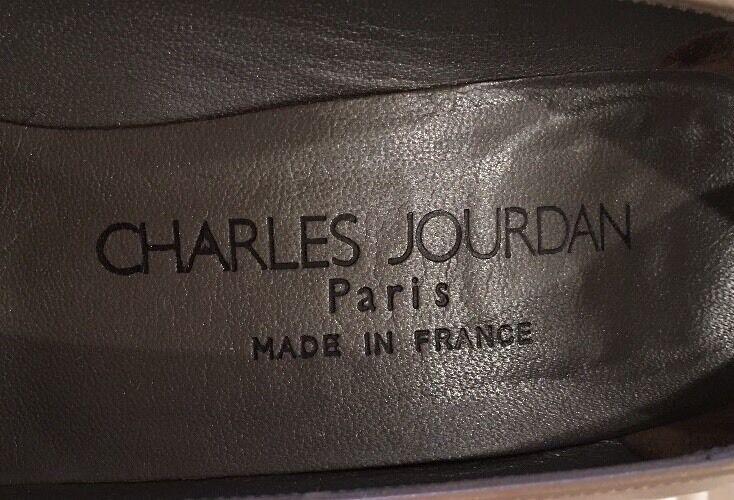 CHARLES JOURDAN Tan Taupe Leder Classic Heels Pumps 6 1x B Paris France Worn 1x 6 7e87ff