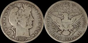 1915-S-Barber-Half-Dollar-Better-Date-Old-Silver-Coin-San-Francisco-US-Type
