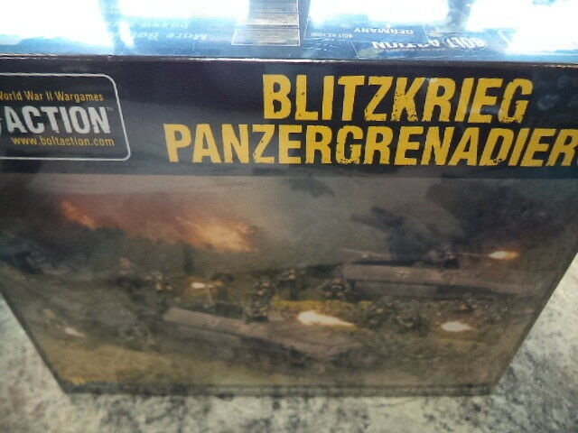 Blitzkrieg Panzergrenadiers Set Bolt Action 2nd Edition WWII Warlord Games New