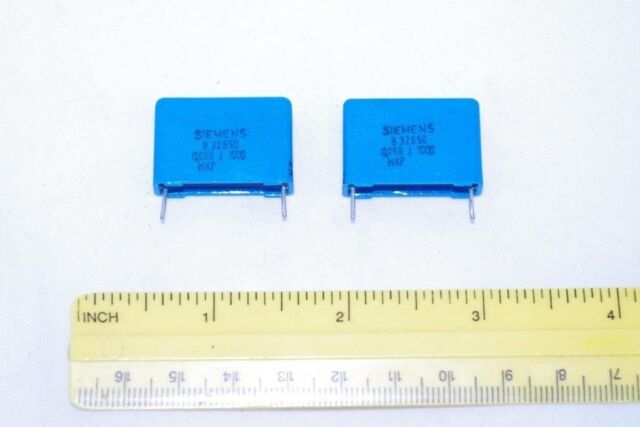 Siemens MKP 0.068uF 68nF 1000 V 5% polypropylène condensateurs B32650, 2pcs