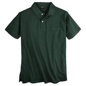 Redfield Poloshirt dunkelgrün 2XL-10XL 100% Baumwoll-Piqué hochwertig bequem NEU