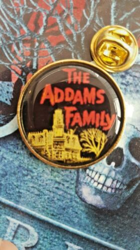 the adams family  quality large BADGE film vintage tv series goth emo alt