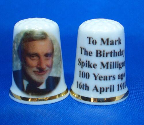 Birchcroft China Thimble Spike Milligan 100th Birthday 2018 with Free Box