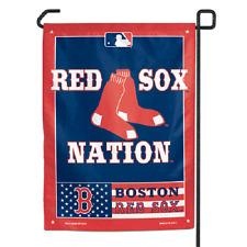 "Boston Red Sox NATION Polyester 11""x15"" Garden Yard Wall Flag MLB"