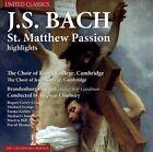 Bach: St. Matthew Passion [Highlights] (CD, Feb-2014, United Classics)