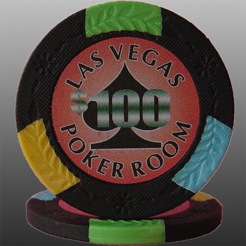 100pcs Four Tone Spade Design Poker Chips $100