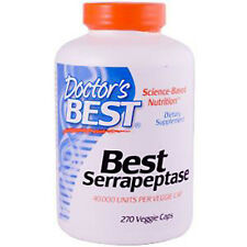 SERRAPEPTASE, 40,000iu x 270VCaps, Doctors Best, 24Hr Dispatch