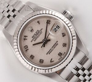 Rolex-Lady-Datejust-Stainless-Steel-26mm-18k-Fluted-Bezel-Ivory-Jubilee-Dial-BOX
