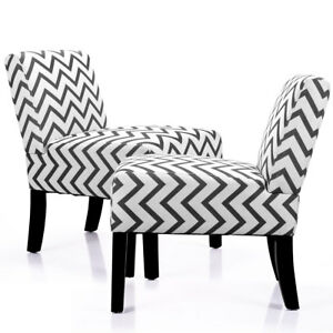 Set Of 2 Sofa Accent Chair Armless With Solid Wood Legs Home Living