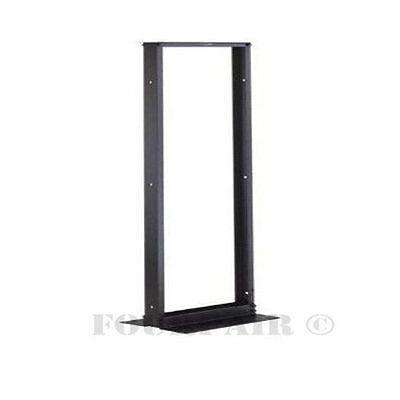 3ft Short 2-Post 18U Open Frame Black Network Server Relay Rack Floor Table Top