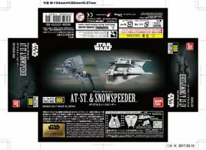 Bandai-Vehicle-Model-008-Star-Wars-At-st-amp-Snow-Speeder-Plastic-model-kit-new