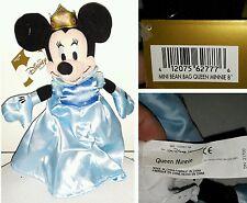 QUEEN MINNIE PLUSH DISNEY STORE 25Cm. Peluche Bean Bag Toy Topolino Mickey Mouse