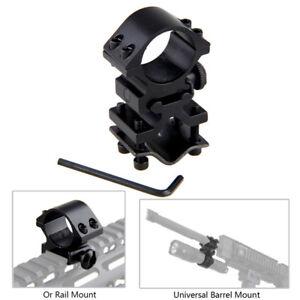 Antorcha-de-montaje-de-barril-Ajustable-mira-Laser-Tubo-montaje-en-carril-de-aluminio-de-alta-plana