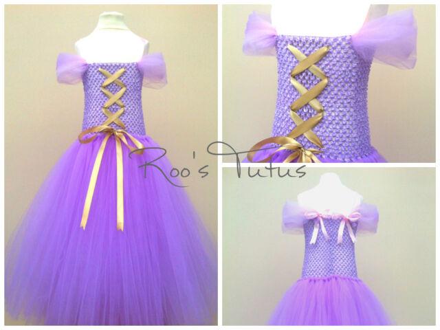 Disney Rapunzel inspired tutu dress costume (Handmade). Party, Princess dress up
