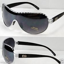 New DG Eyewear Mens Womens Designer Shield Sunglasses Shades Fashion Silver Wrap