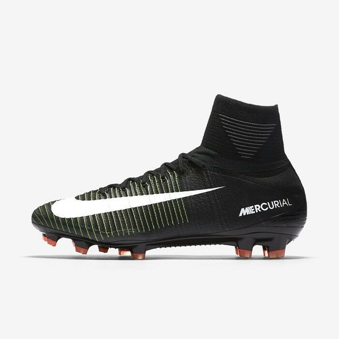 Nike Mercurial V Superfly V Mercurial DF FG noir blanc Soccer Cleats 10 831940 013 Cr7 360 8f9214