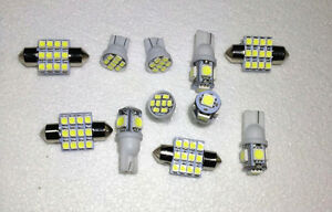 11PCS White LED lights T10 & 31mm Dome Map + Tag Bulbs for Interior package Kit 951972422638