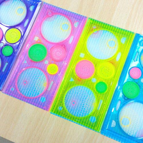 1 Pcs Spirograph Geometric Ruler Drafting Tools Stationery Drawing Toys Set P0CA