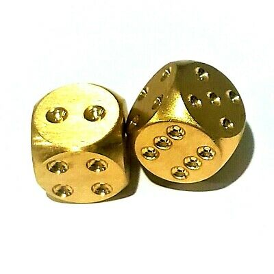 Set Of 2 Solid Brass Dice Ebay