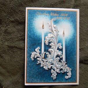 Image Is Loading Vintage Christmas Card Hallmark 25K 771 2 White