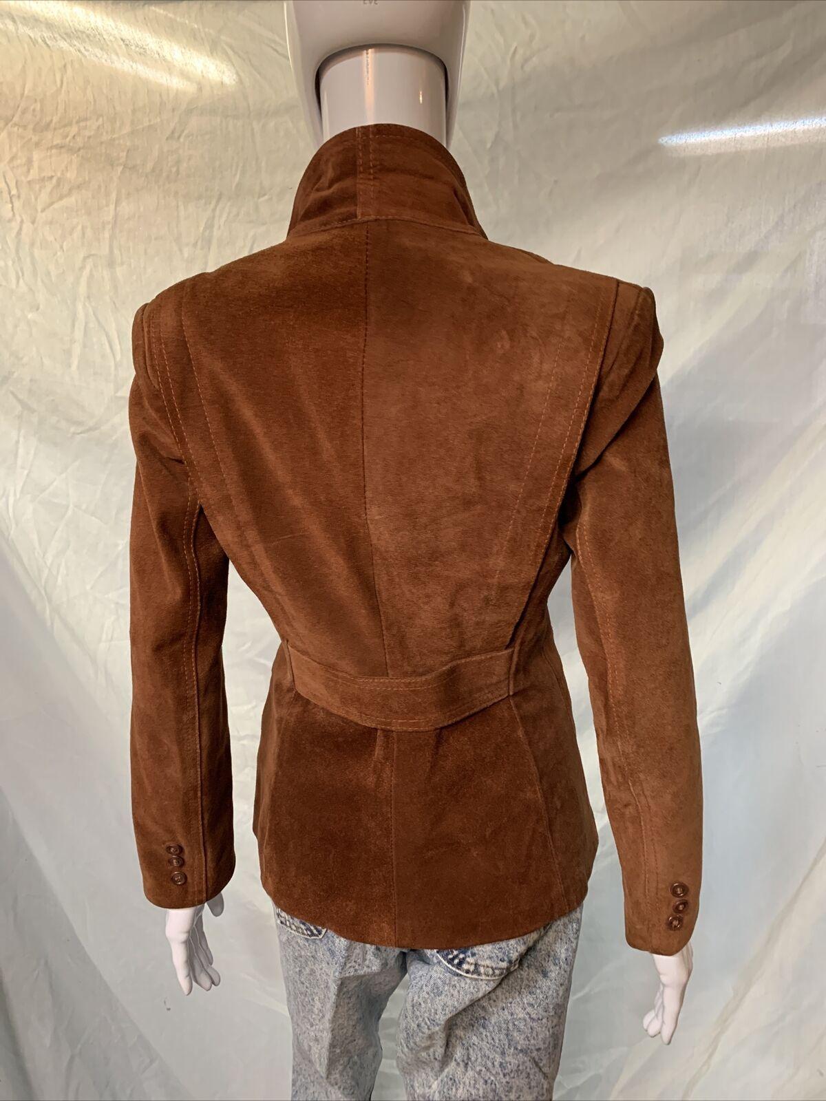 Vintage 1970s Casual Corner Leather Suede Brown J… - image 6