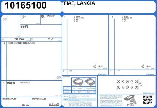 Full Engine Rebuild kit d/'étanchéité de Fiat stilo 16 V 1.4 95 843A1.000 1//2004 -