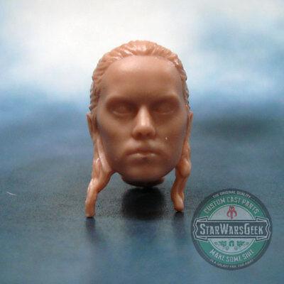 """ML196 Krennic Rogue One Custom Cast head sculpt use w//6/"""" Star Wars Black figure"""