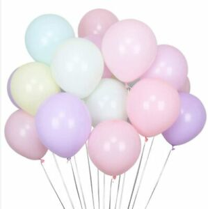 10-IN-environ-25-40-cm-100x-Pastel-Ballon-Macaron-Candy-Colored-Latex-Ballons-Helium-flottant