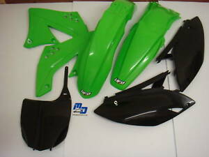 NEW-UFO-5-PIECE-PLASTIC-KIT-KAWASAKI-KXF-250-2008-STD