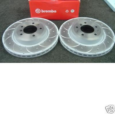 E46 BMW 3 Touring 325i 00-05 Rear Brake Discs Drilled Grooved Gold Edition