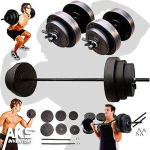 Weight-Sets-140lbs-Barbell-Dumbells-Home-Gym-Fitness-Equipment-Build-Muscle-New