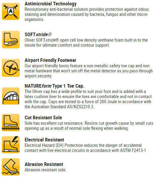 oliver des bottes de embout travail, 45627 embout de de sécurité non métalliques, la prospection friendly 65604b
