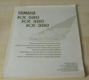 Yamaha KX-380 / KX-480 / KX-580 Bedienungsanleitung (mehrsprachig, Deutsch) (3)