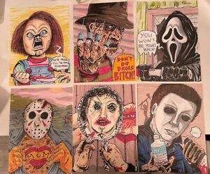 Original-Art-Horror-Collection-Jason-Freddy-Myers-Chucky-Ghostface-Leatherface