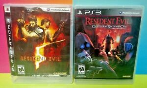 Resident-Evil-5-Raccoon-City-Game-Lot-Sony-PlayStation-3-PS3-Tested