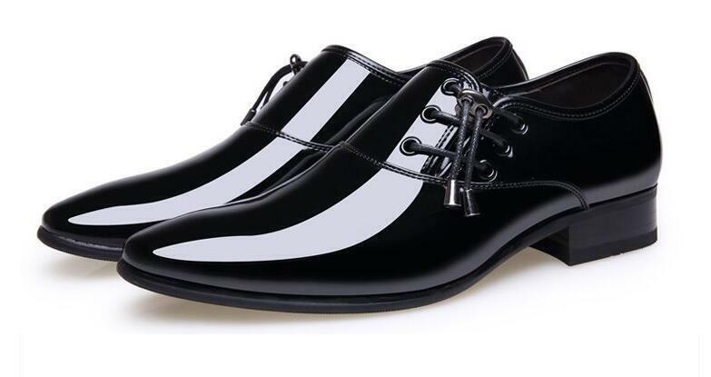 Luxury Mens Business Dress Formal shoes Block Heel Oxfords Lace Up British Sz