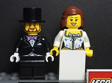 NEW LEGO WEDDING  BRIDE AND GROOM WITH TOP HAT MINIFIGURES FOR CAKE TOPPER