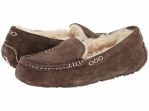 fad1871c275 Details about Women's Shoes UGG Ansley Moccasin Slippers 3312 Chocolate 5 6  7 8 9 10 *New*