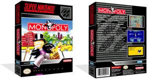 - MONOPOLE SNES Replacement Game Case + Housse Art Work seulement