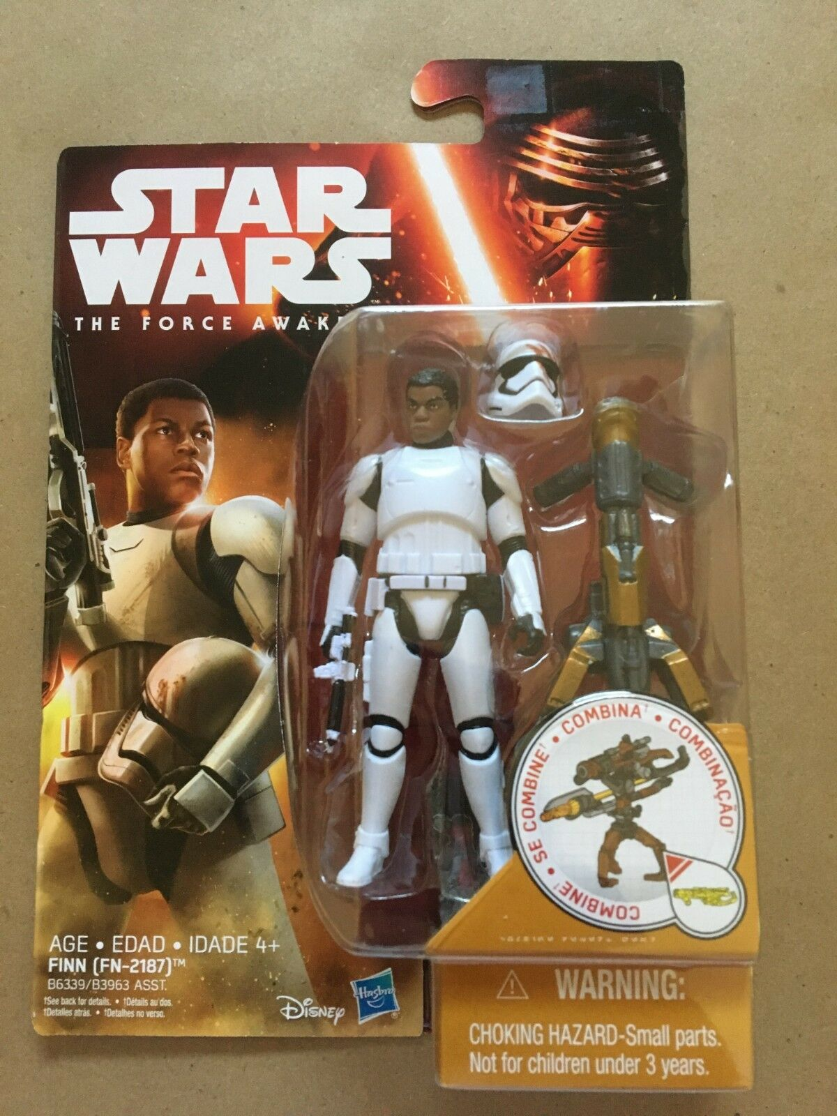 HASBRO Star Wars THE FORCE AWAKENS 3 3 4-Inch Action Figure FINN (FN-2187)