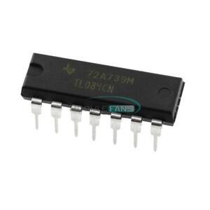 20PCS-TL084-TL084CN-DIP-14-Quad-JFET-Input-Op-Amp-IC